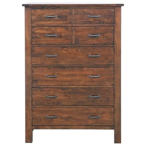 Planked 5 Drawer Chest