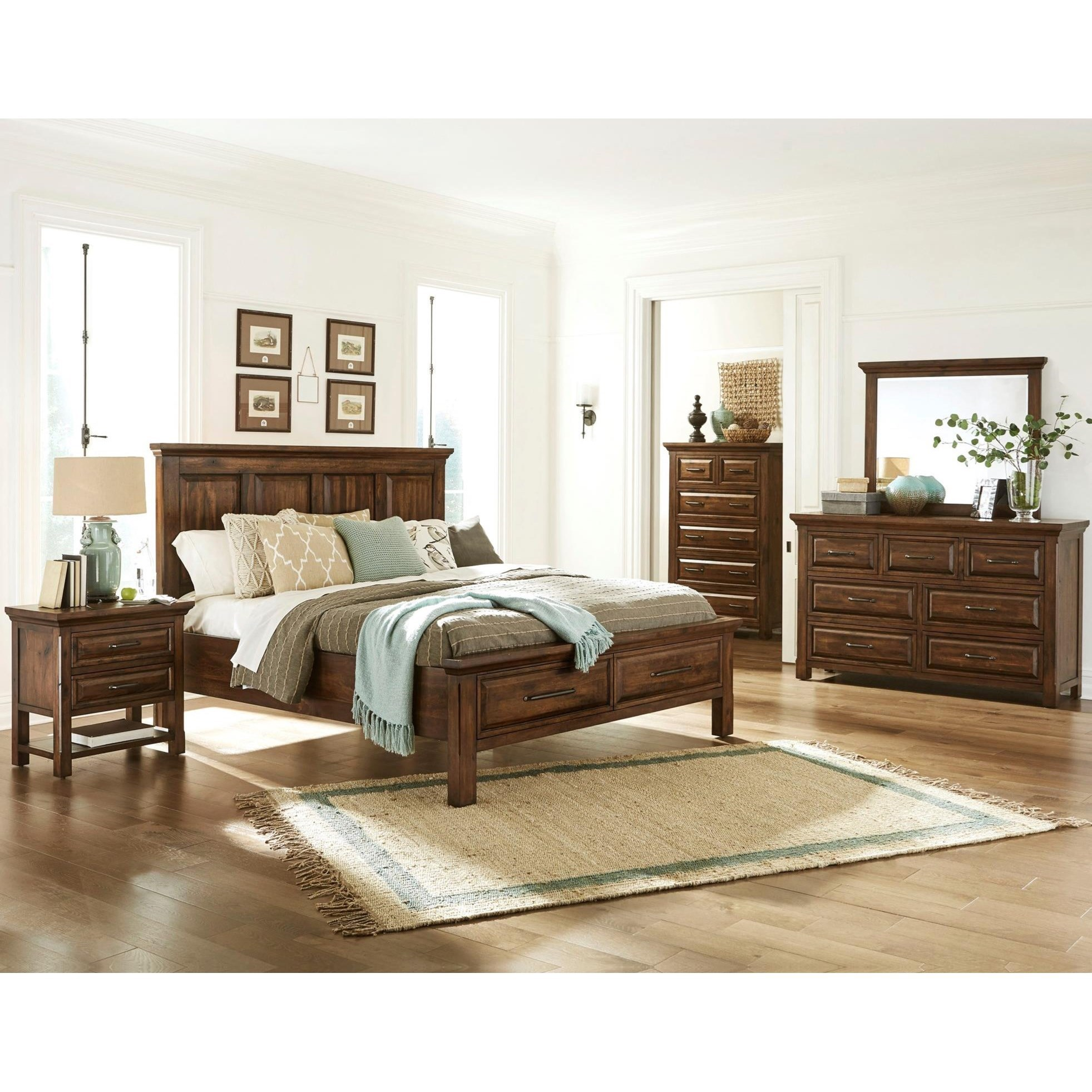 Durham California King Bedroom Group by Virginia Furniture Market Solid Wood at Virginia Furniture Market