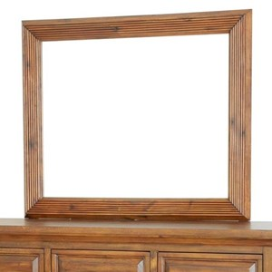 Rustic Dresser Mirror with Wood Frame