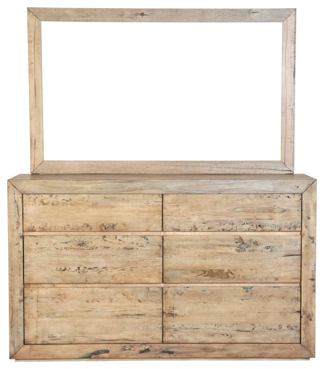 Renewal 6-Drawer Dresser and Mirror by Napa Furniture Designs at Johnny Janosik