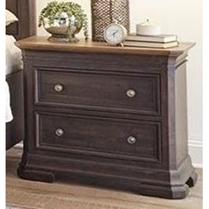 Traditional Nightstand with Two Drawers