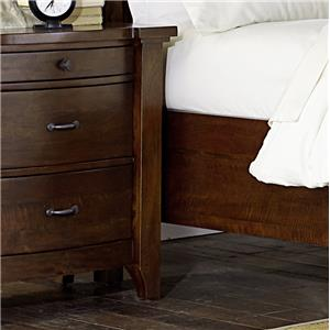 Solid Mango 3 Drawer Nightstand