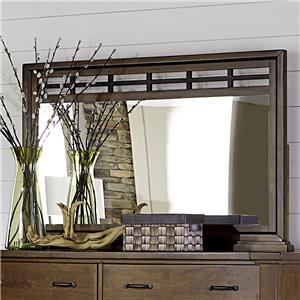 Mirror with Metal Accent