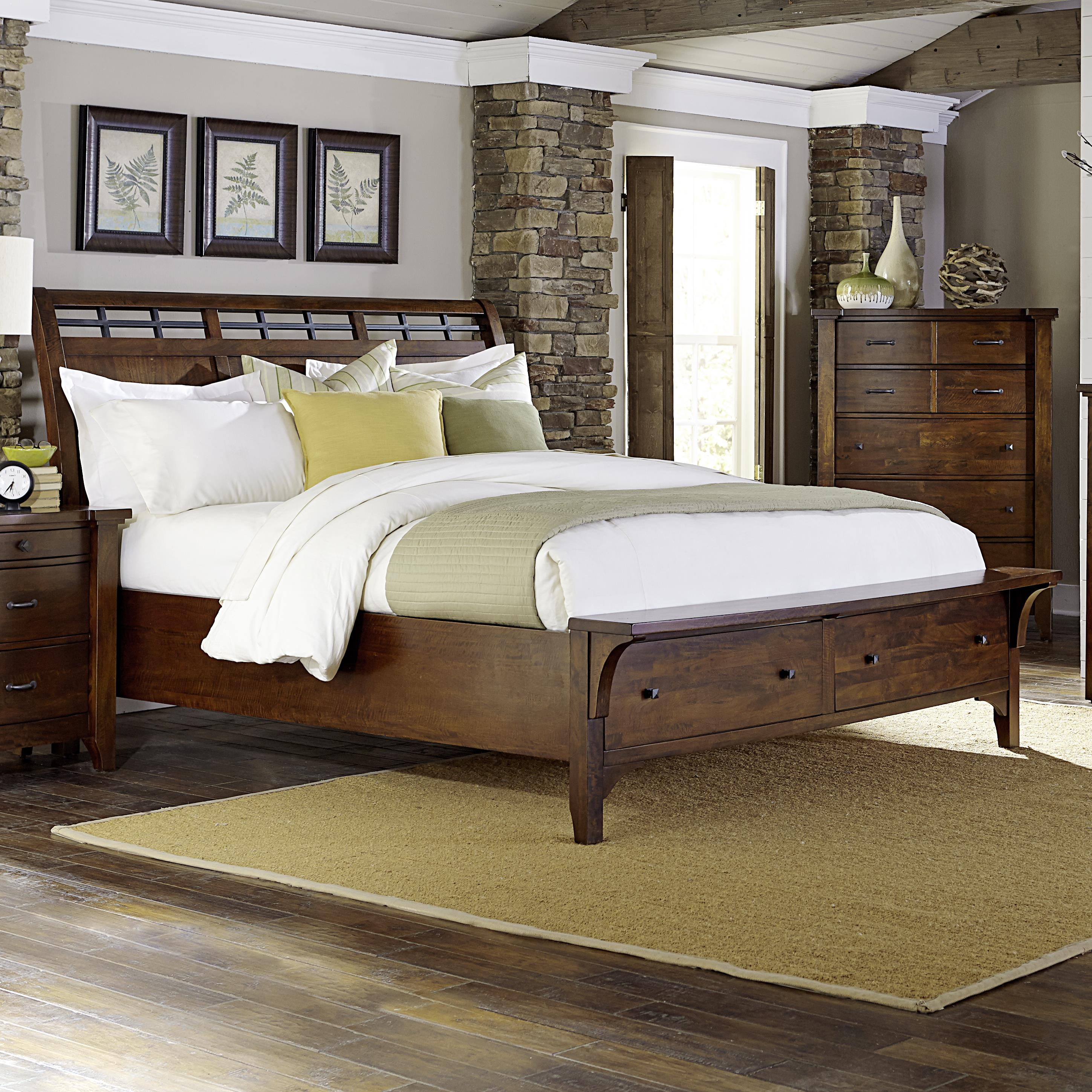 Whistler Retreat California King Storage Bed by Napa Furniture Designs at Beck's Furniture