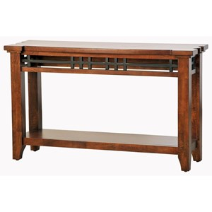 Solid Mango Sofa Table with Shelf
