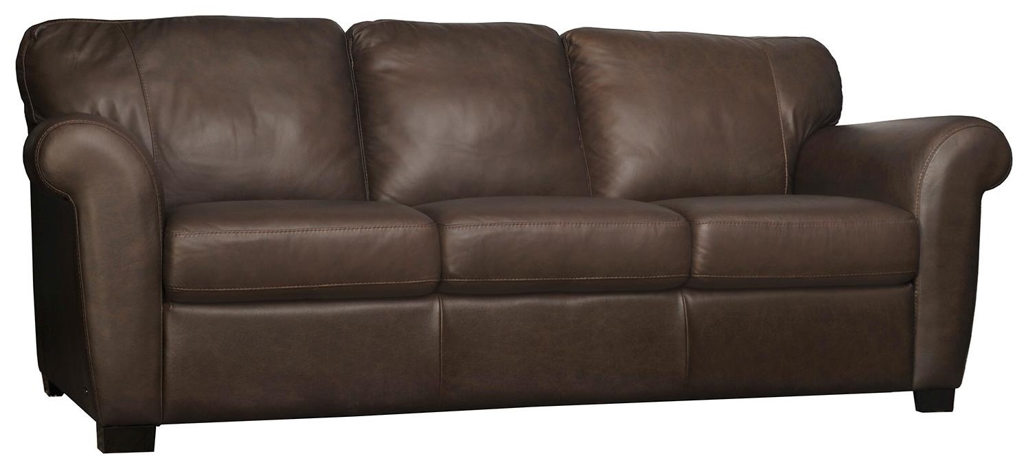 A121 Stationary Leather Sofa by Natuzzi Editions at Williams & Kay