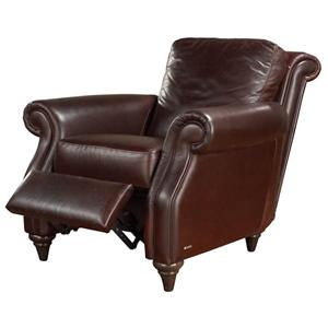 Traditional Push Back Recliner w/ Rolled Arms