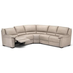 Power Reclining Sectional Sofa with Pillow Arms