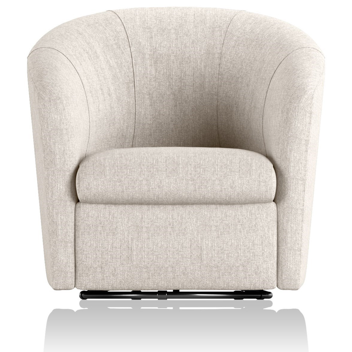 A835 Swivel Chair by Natuzzi Editions at Williams & Kay