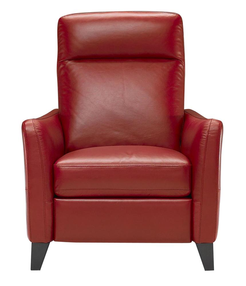 B537 Upholstered Chair with Padded Headrest  by Natuzzi Editions at Williams & Kay