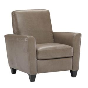 Contemporary Leather Leg Recliner