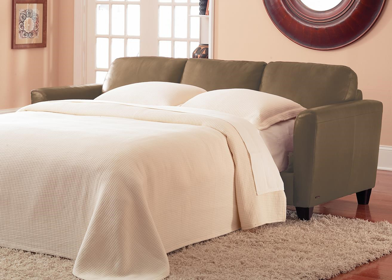 Contemporary Queen Sleeper with Flair Tapered Arms