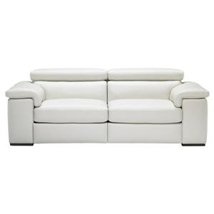 Contemporary Leather Sofa with Built-In Speakers and Adjustable Headrests