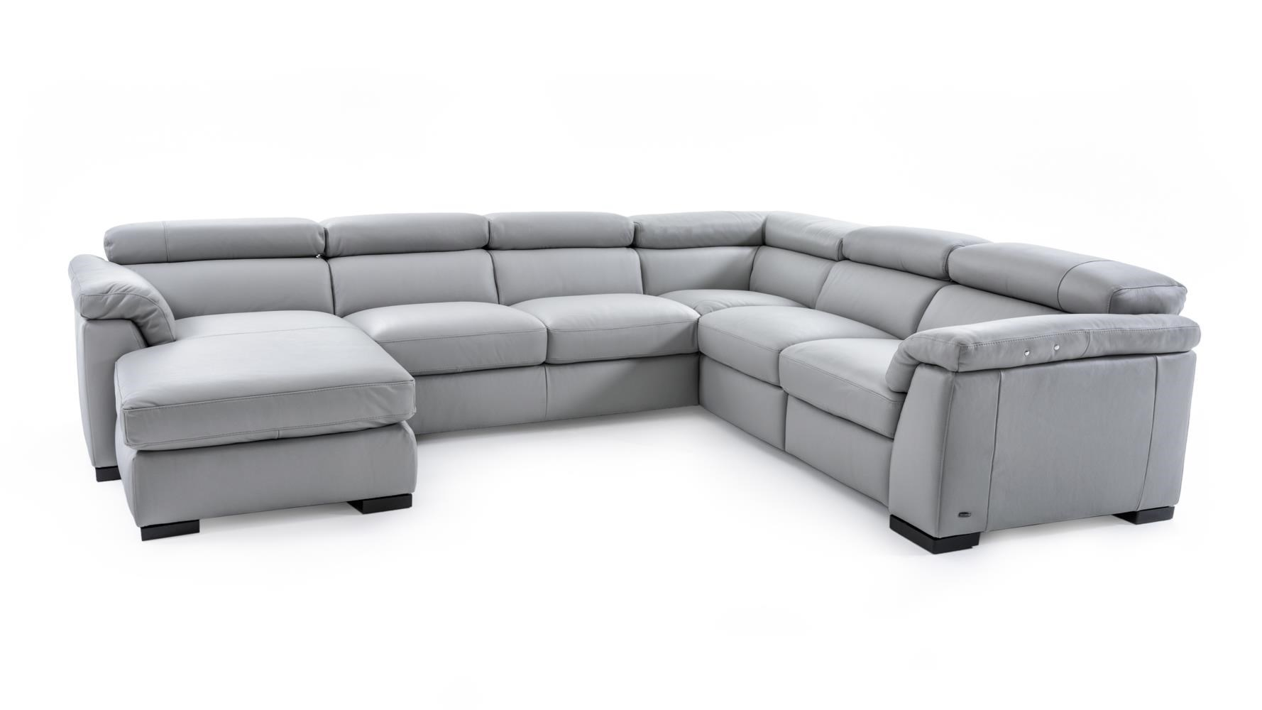 Tommaso Sectional Sofa w/ Power Recline by Natuzzi Editions at Baer's Furniture