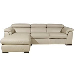 Contemporary Chaise Sofa with Power Recline