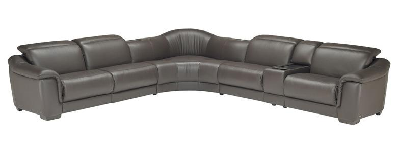 B641 Reclining Sectional with Speakers by Natuzzi Editions at Williams & Kay