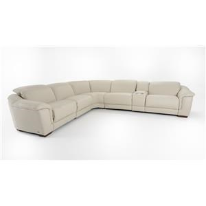 Six Piece Power Reclining Sectional with Adjustable Headrests