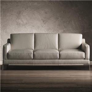 Contemporary 3 Over 3 Sofa with Track Arms