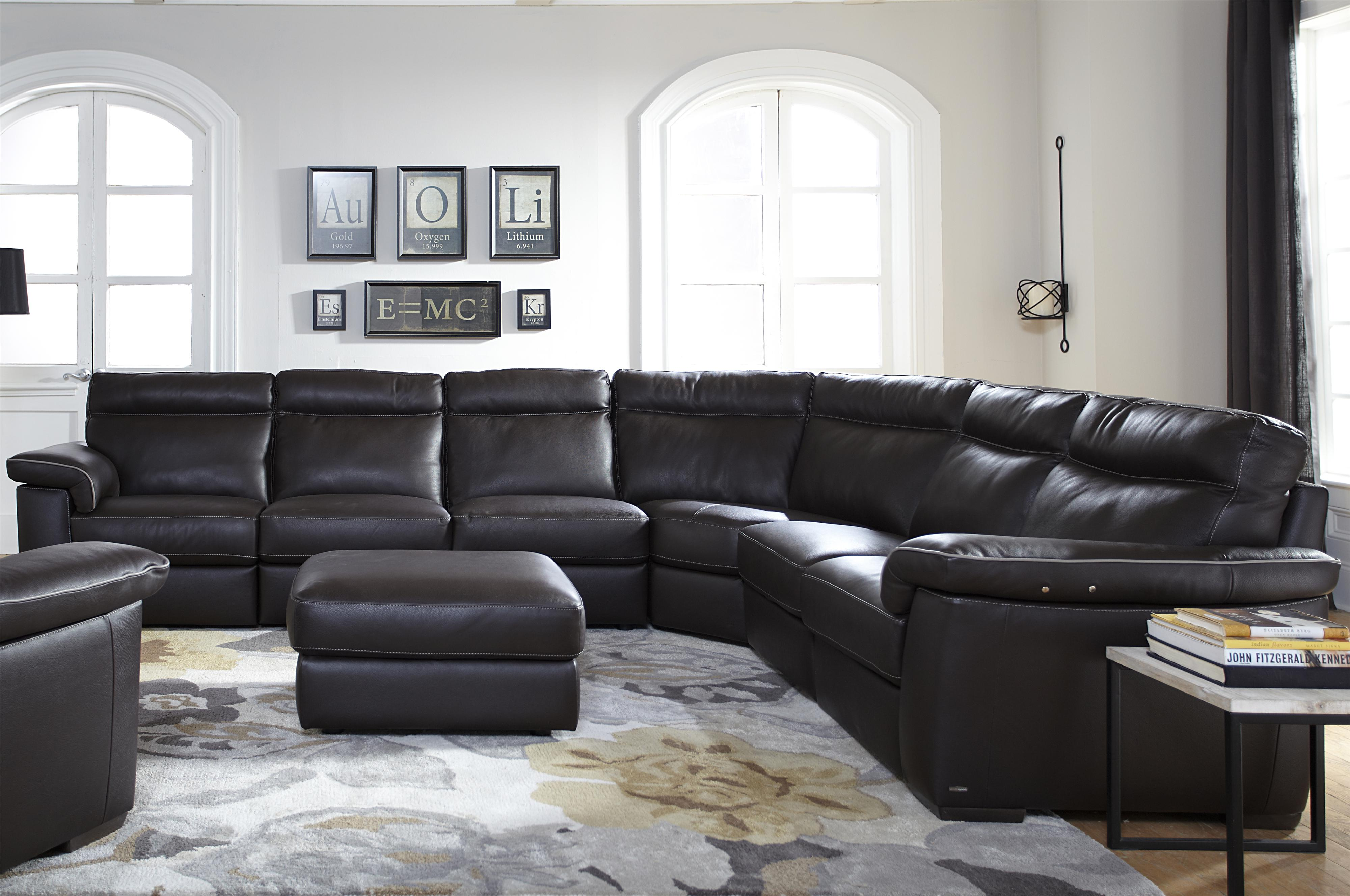 B757 4 Pc Power Reclining Sectional Sofa by Natuzzi Editions at Williams & Kay