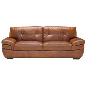 Contemporary 2-Seat Sofa with Tufted Back and Pillow Arms