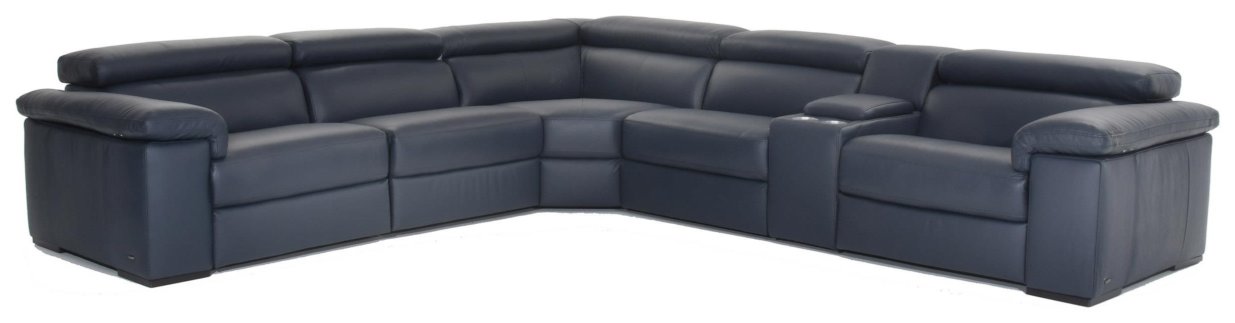 Solare Power Reclining Leather Sectional by Natuzzi Editions at Baer's Furniture