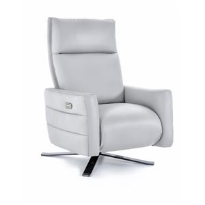 Power High Leg Recliner with Metal Base
