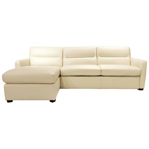 Contemporary Sectional Sleeper with Left Facing Storage Chaise