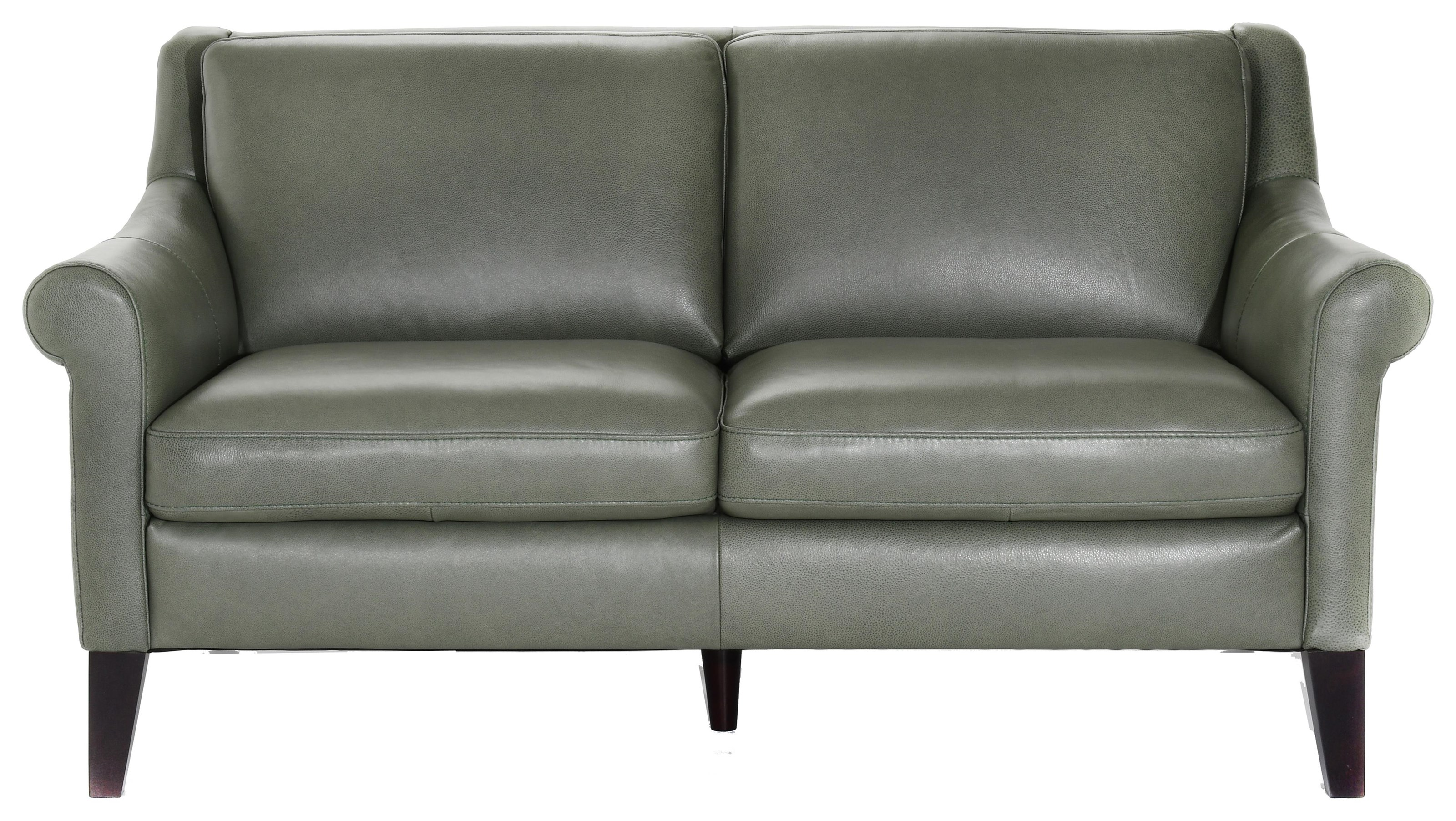 Contemporary Love Seat with Tapered Legs