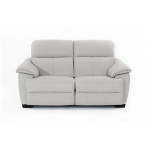 Contemporary Wall Hugger Power Reclining Loveseat with Power Headrests