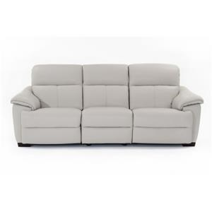 Contemporary Wall Hugger Power Reclining Sofa with Power Headrests