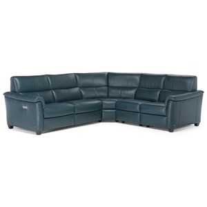 Five Piece Power Reclining Sectional Sofa with Power Headrests and USB Charging Ports
