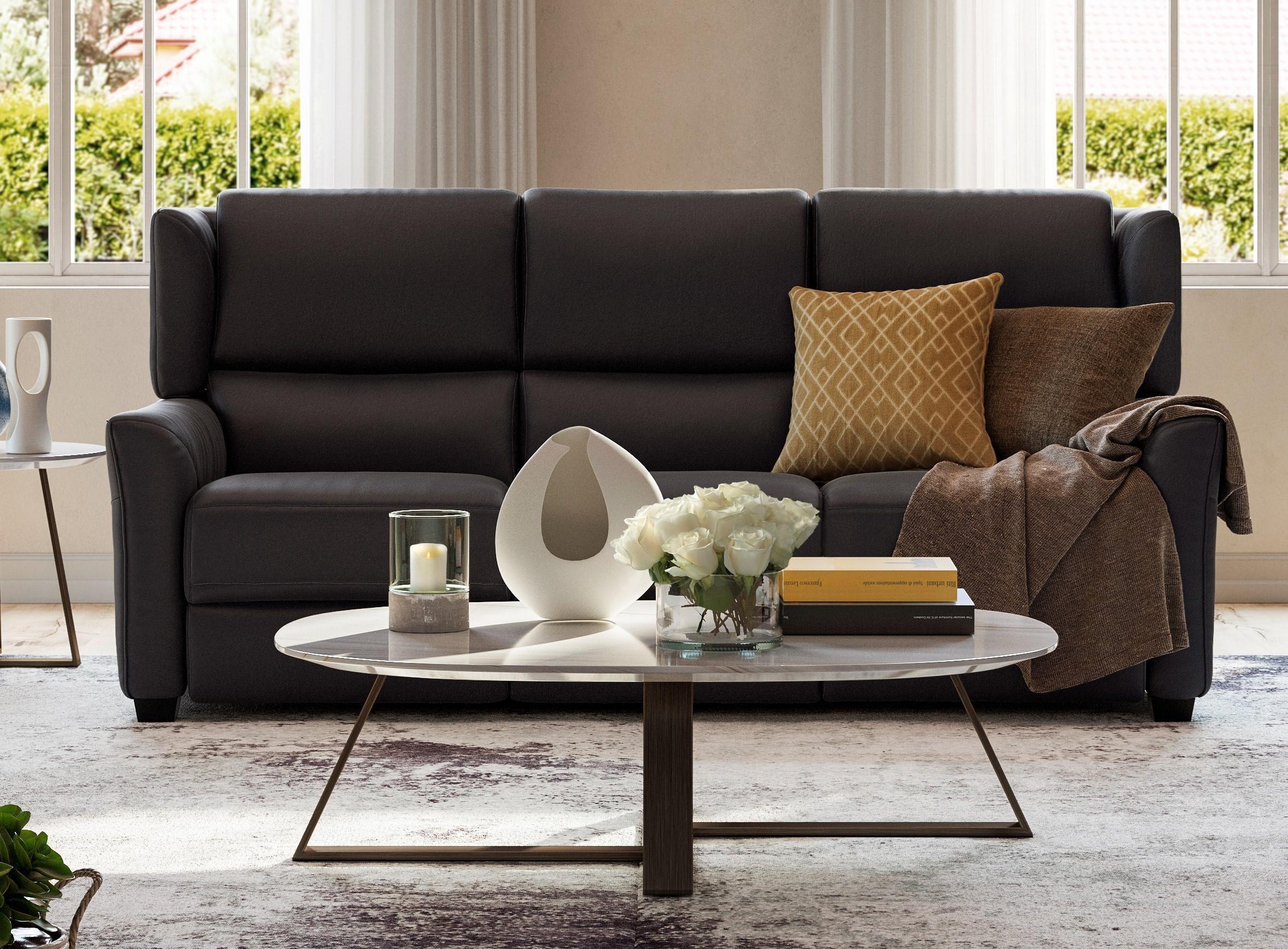 Caloroso Modular Power Reclining Sofa by Natuzzi Editions at Baer's Furniture