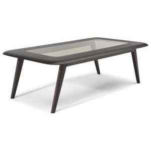 Rectangular Central Table with Glass Insert