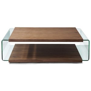 Rectangular Coffee Table with Glass Sides