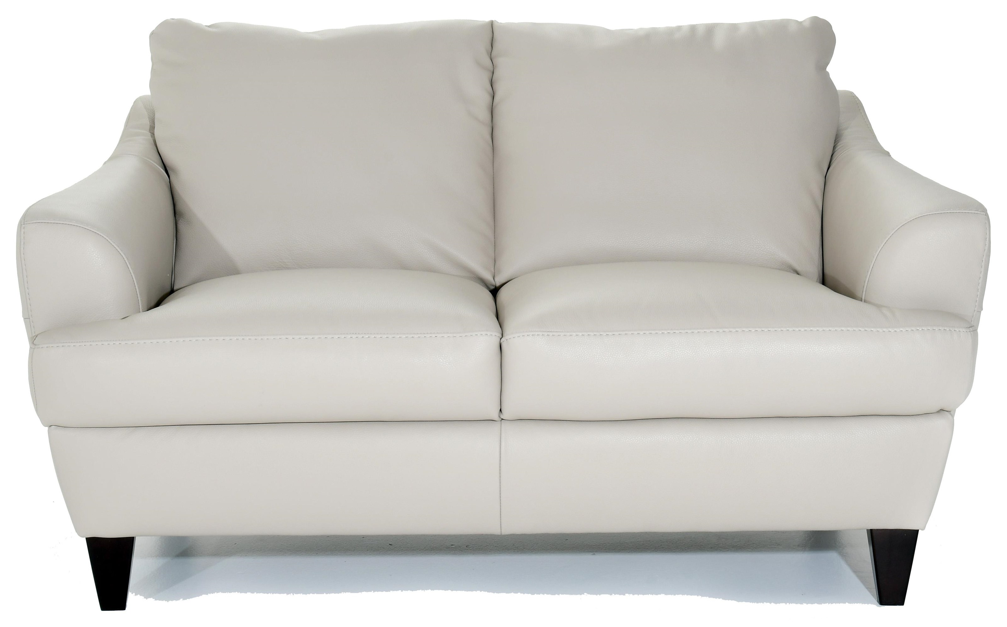 Contemporary Love Seat with Flared Arms