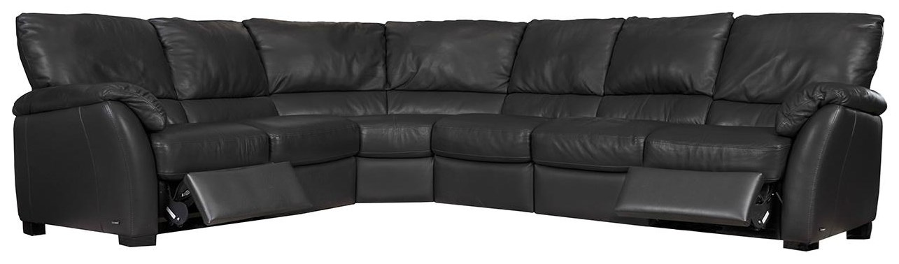 Donato Power Reclining Sectional by Natuzzi Editions at Sadler's Home Furnishings