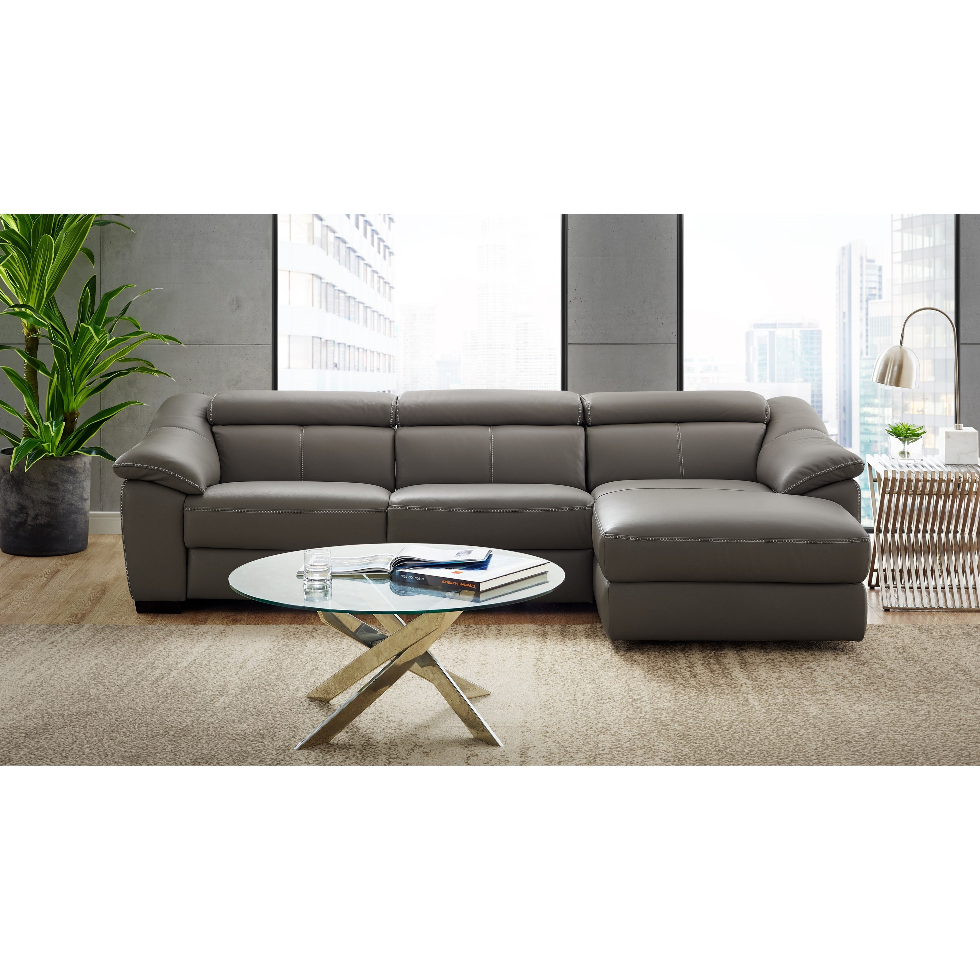 Emozione 3-Piece Power Reclining Sectional by Natuzzi Editions at Baer's Furniture