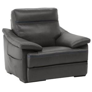 Contemporary Recliner with Pillow Arms