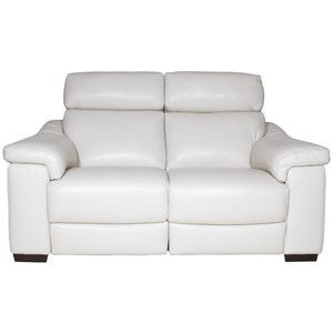 Casual Power Reclining Loveseat with USB Port
