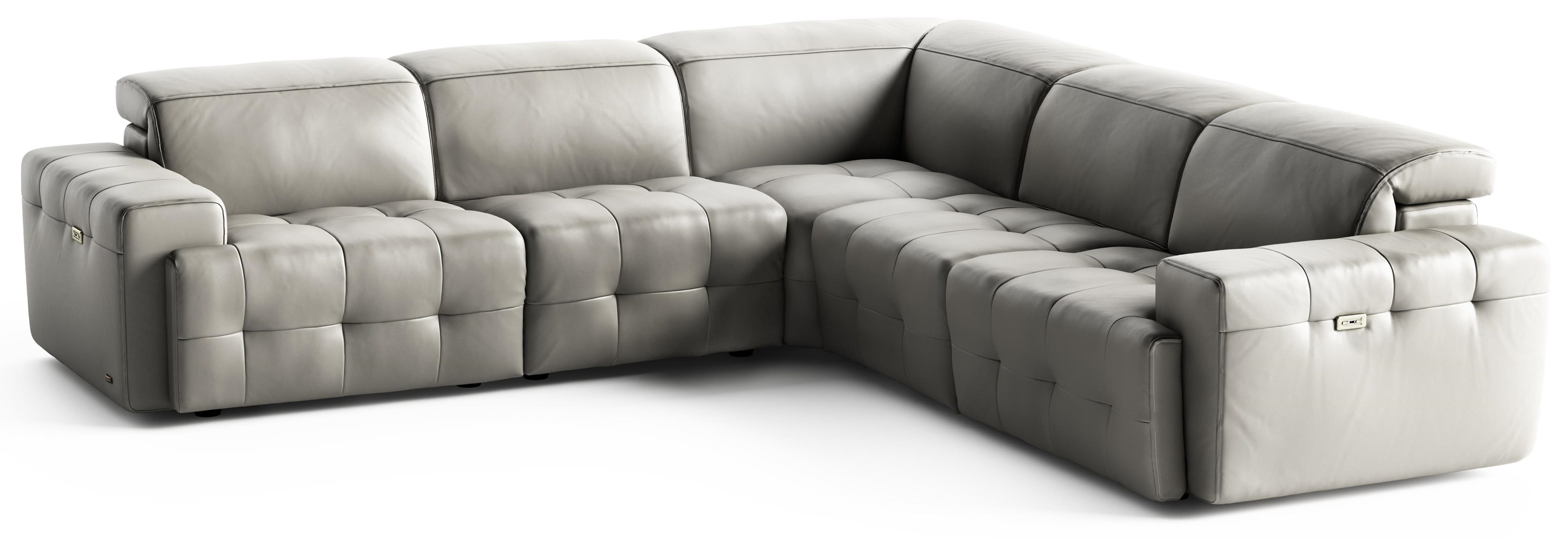 Intenso Power Reclining Leather Sectional by Natuzzi Editions at Baer's Furniture