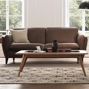 Contemporary Sofa with Tapered Arms