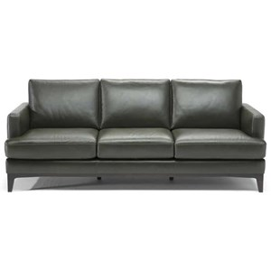 Contemporary 3-Seater Sofa with Track Arms