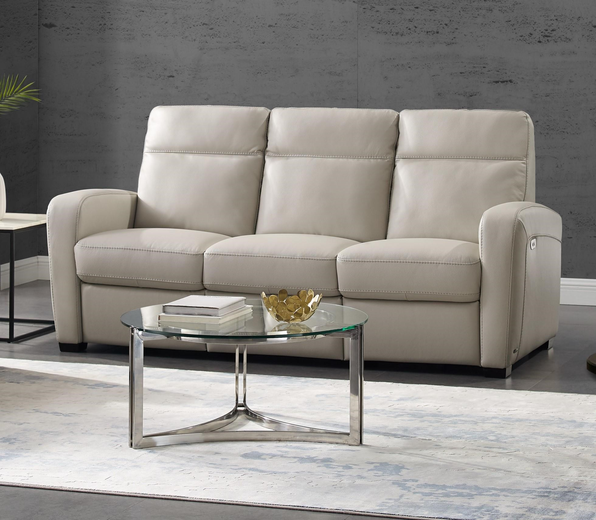 Accoglienza Leather Power Reclining Sofa by Natuzzi Editions at Baer's Furniture