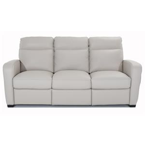Leather Dual Power Reclining Sofa