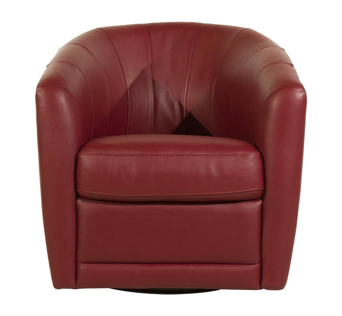 Giada Swivel Chair by Natuzzi Editions at HomeWorld Furniture