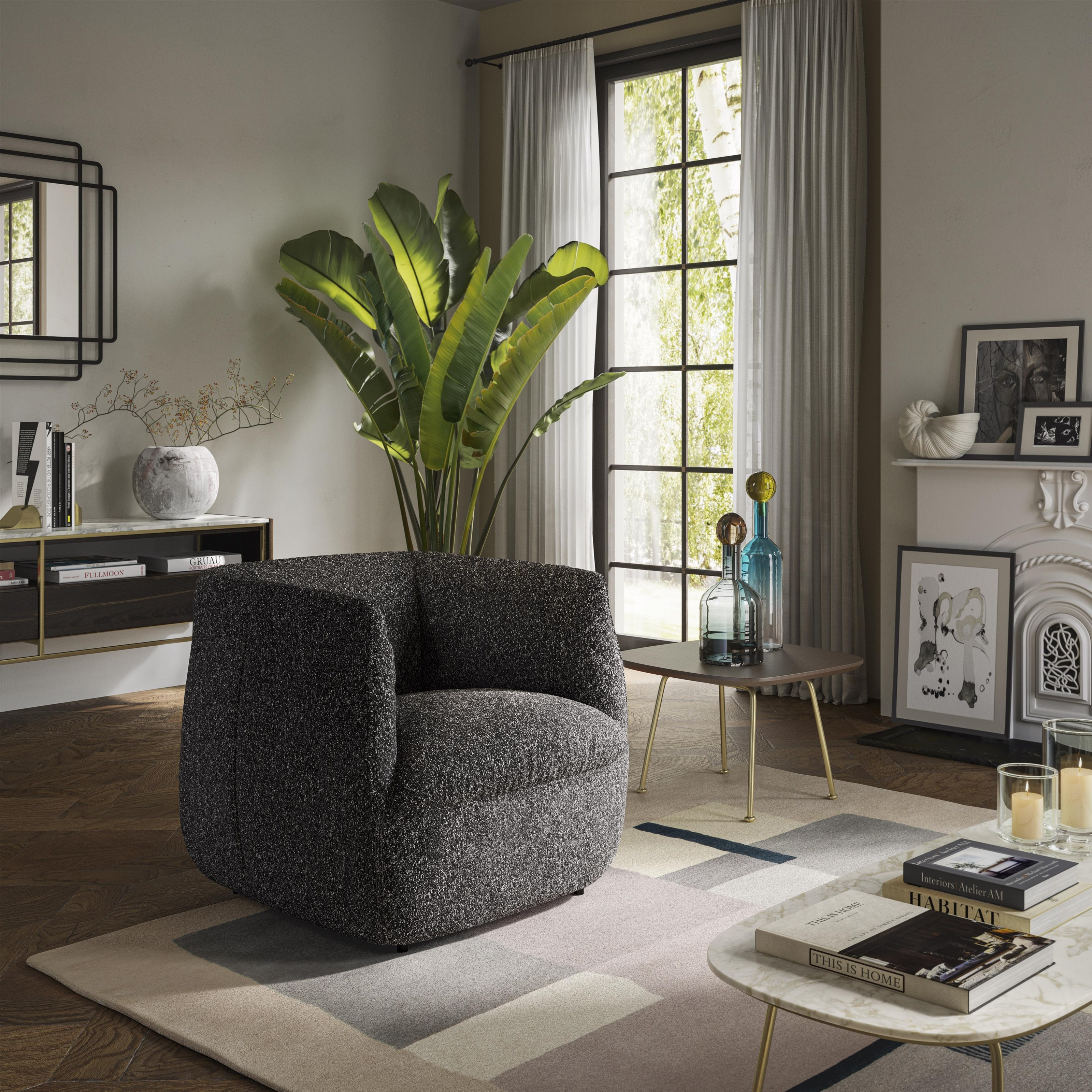 Wally Swivel Chair by Natuzzi Editions at Baer's Furniture