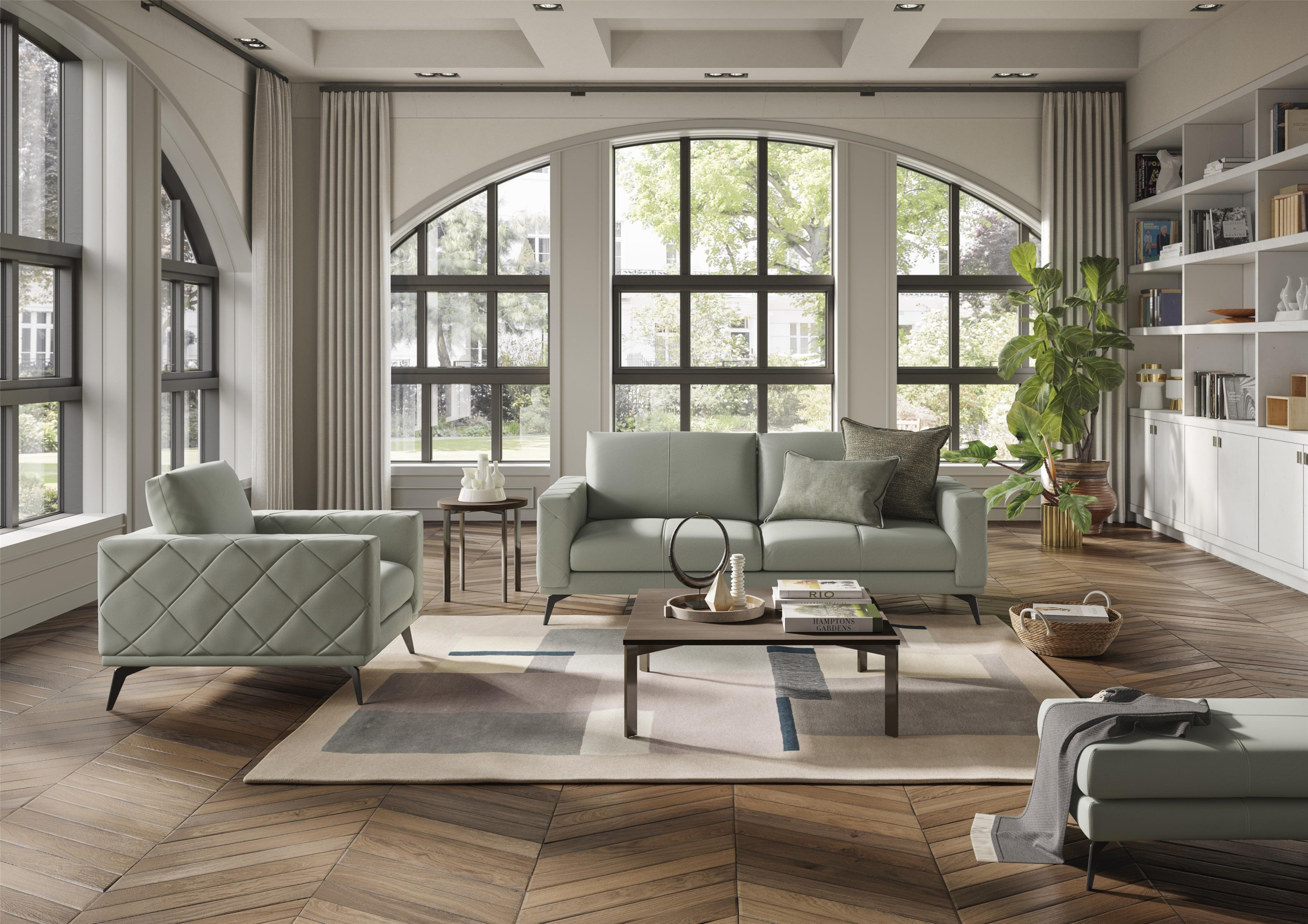 Wessex Leather Sofa by Natuzzi Editions at Baer's Furniture