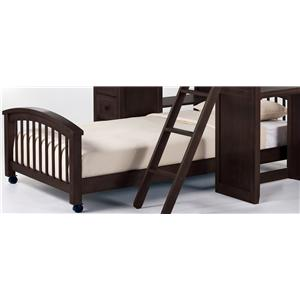 Twin Lower Student Loft Bed w/ Casters