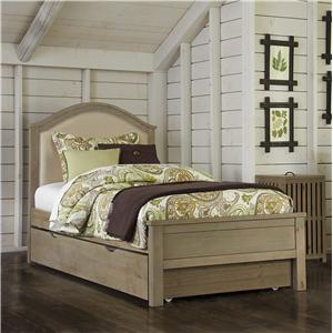 NE Kids Highlands Twin Bailey Upholstered Bed with Trundle