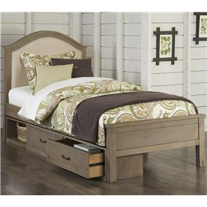 NE Kids Highlands Twin Bailey Upholstered Bed with Storage